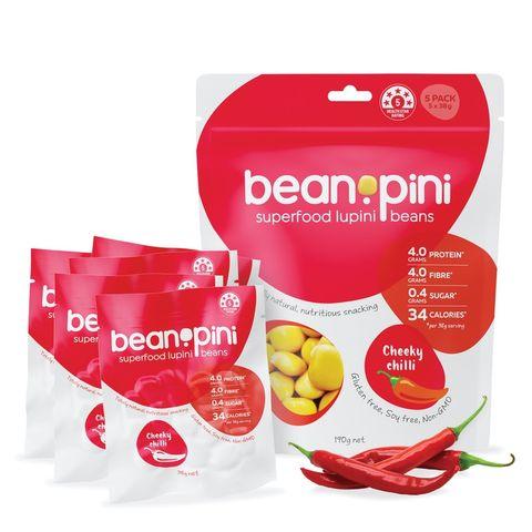 Beanopini Superfood Lupini Beans (Cheeky Chilli) 5 Pack - 190g