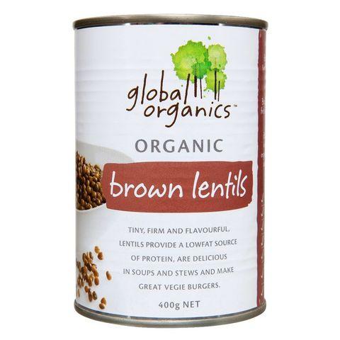 Global Organics Organic Brown Lentils - 400g