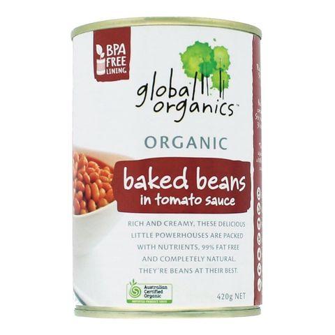 Global Organics Baked Beans in Tomato Sauce - 400g