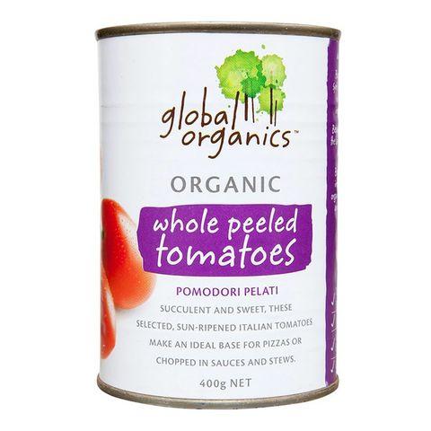Global Organics Tomatoes Peeled - 400g