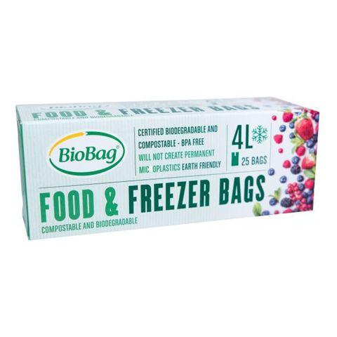 BioBag Compostable Freezer Bag 4L (25 Pack)