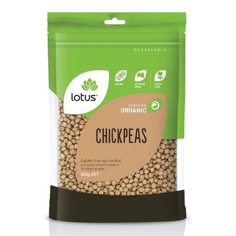 Lotus Organic White Chick Peas - 500g