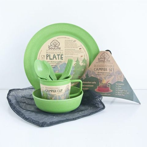 EcoSouLife Bamboo Camper Set Large 7PC - Green