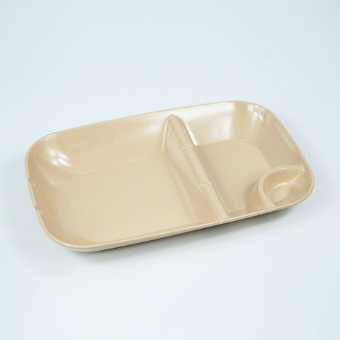 EcoSouLife Bamboo BBQ Plate - Almond