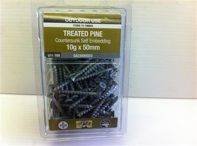 SCREW TREATED PINE CSK RIB