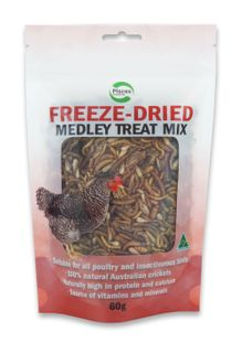 PISCES FREEZEDRIED MEDLEY POULTRY 60G