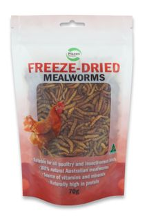 PISCES FRZDRIED MEALWORM POULTRY 70G BAG