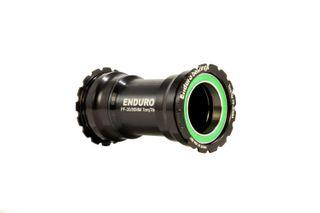 Enduro Premium Bottom Bracket BB386 to DUB Cranks Stainless Steel Black