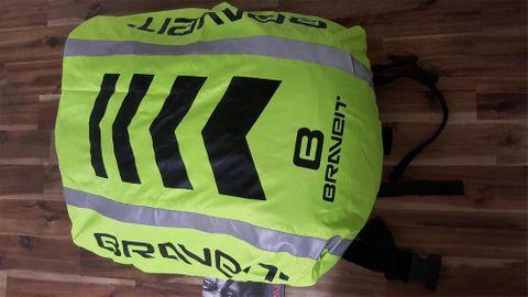 Brave Backpack Cover Hi-Vis Fluro/Reflective/Black