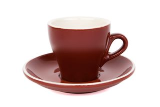 180ML CAPPUCCINO TULIP CUP ITALIAN SET OF 6 BROWN