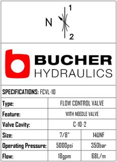 FCVL-10-N-S-0-NV  FLOW CONTROL NEEDLE VALVE - 10
