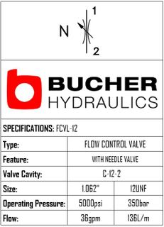 FCVL-12-N-S-O-N  FLOW CONTROL NEEDLE VALVE - 12