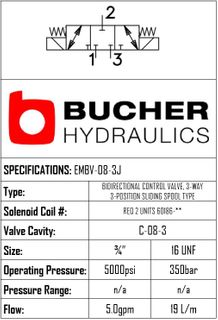 EMBV-08-N-3J-0-00 ELECTRO MAGNETIC BI DIRECTIONAL VALVE - 08