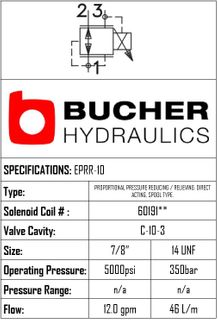 EPRR-10-N-10-0-M-00 ELECTRO PROPORTIONAL RELIEF/REDUCING VALVE - 10