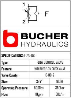 FCVL-08-N-S-0-F FLOW CONTROL VALVE - 08