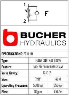 FCVL-10-N-S-0-F  FLOW CONTROL VALVE - 10