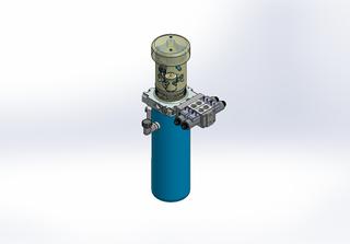 24v DC FAN ASSISTED 7L/min 10-200bar 4.2L ROUND tank / vertical mount / 2 x valve