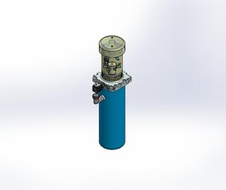 24v DC FAN ASSISTED 7L/min 10-200bar 4.2L ROUND tank / vertical mount / lowering solenoid valve