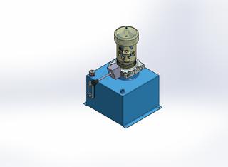 24v DC FAN ASSISTED 7L/min 10-200bar 18.0L SQUARE tank / vertical mount / manual valve