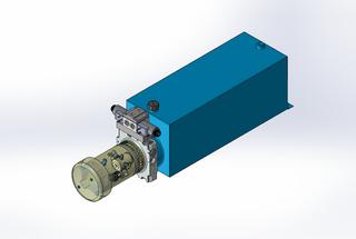 24v DC FAN ASSISTED 7L/min 10-200bar 20.0L SQUARE tank / horizontal mount / 1 x valve