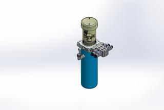12v DC FAN ASSISTED 7L/min 10-170bar 4.2L ROUND tank / vertical mount / 2 x valve