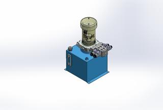 12v DC FAN ASSISTED 7L/min 10-170bar 12.0L SQUARE tank / vertical mount / 2 x valve