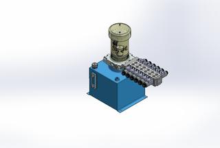 12v DC FAN ASSISTED 7L/min 10-170bar 12.0L SQUARE tank / vertical mount / 6 x valve