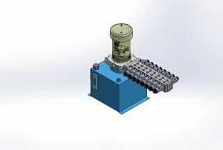 12v DC FAN ASSISTED 7L/min 10-170bar 12.0L SQUARE tank / vertical mount / 8 x valve