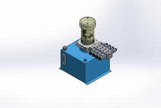12v DC FAN ASSISTED 7L/min 10-170bar 18.0L SQUARE tank / vertical mount / 4 x valve