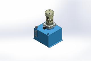 12v DC FAN ASSISTED 7L/min 10-170bar 18.0L SQUARE tank / vertical mount / lowering solenoid valve