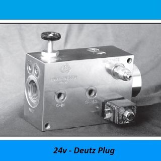 HAMMER VALVES, 380 LITER - 350 BAR, STEEL - 350 BAR, Voltage: 24V DIN Plug