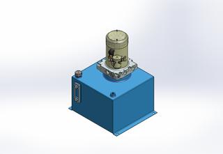 12v DC 7L/min 10-170bar 18.0L SQUARE tank / vertical mount