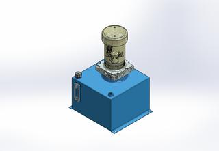 12v DC FAN ASSISTED 7L/min 10-170bar 18.0L SQUARE tank / vertical mount