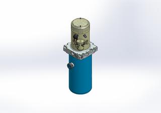 24v DC 7L/min 10-200bar 2.8L ROUND tank / vertical mount