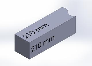 SQUARE BAR, DURA-BAR CAST IRON, 210MM X 210MM