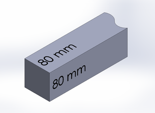 SQUARE BAR, DURA-BAR CAST IRON, 80MM X 80MM