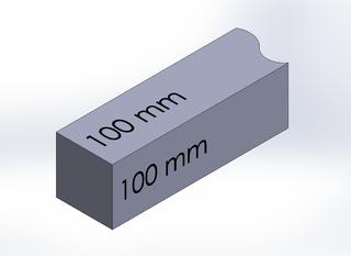 SQUARE BAR, DURA-BAR CAST IRON, 100MM X 100MM