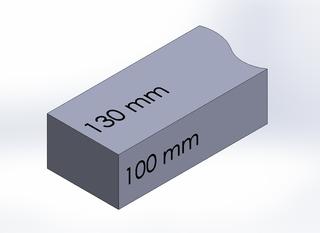 SQUARE BAR, DURA-BAR CAST IRON, 130MM X 100MM