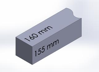SQUARE BAR, DURA-BAR CAST IRON, 160MM X 155MM