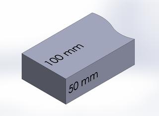 SQUARE BAR, DURA-BAR CAST IRON, 100MM X 50MM