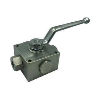 "Multi-3way Ball Valves 1/4"" with Threaded Connections"