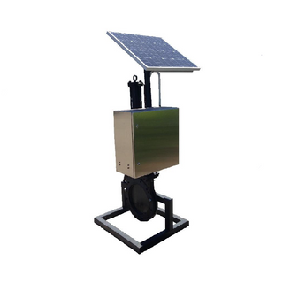 SOLAR POWERED HYDRAULIC POWER UNIT,24V, 60AH, STAINLESS STEEL ENCLOSURE WITH PUSH BUTTON PENDANT