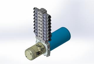 12v DC 7L/min 10-170bar 2.8L ROUND tank / horizontal mount / 8 x valve