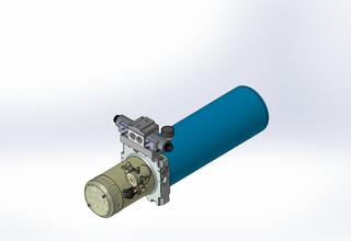 12v DC 7L/min 10-170bar 4.2L ROUND tank / horizontal mount / 1 x valve