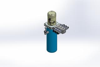 12v DC 7L/min 10-170bar 4.2L ROUND tank / vertical mount / 3 x valve