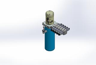 12v DC 7L/min 10-170bar 4.2L ROUND tank / vertical mount / 5 x valve
