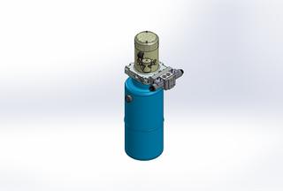 12v DC 7L/min 10-170bar 9.0L ROUND tank / vertical mount / 1 x valve
