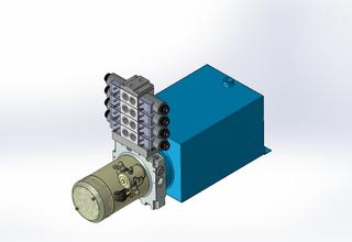 12v DC 7L/min 10-170bar 10.0L SQUARE tank / horizontal mount / 4 x valve