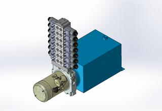 12v DC 7L/min 10-170bar 10.0L SQUARE tank / horizontal mount / 7 x valve