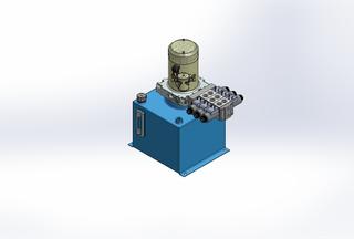 12v DC 7L/min 10-170bar 12.0L SQUARE tank / vertical mount / 3 x valve